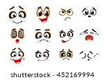 vector icons of smiley faces   Shutterstock .eps vector #452169994