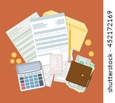 concept of tax payment and... | Shutterstock . vector #452172169