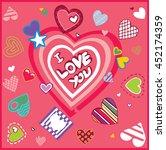 art design greeting card i love ...   Shutterstock .eps vector #452174359