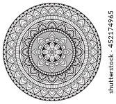 flower mandala. vintage... | Shutterstock .eps vector #452174965