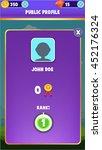 mobile game gui user profile...