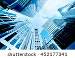 skyscrapers shot with... | Shutterstock . vector #452177341