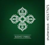 buddhist symbol. the flower of... | Shutterstock .eps vector #452177671