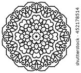 mandala for painting. vector... | Shutterstock .eps vector #452178514