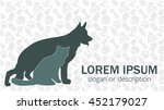 Stock vector vector card vet pet shop kennel animal shelter 452179027
