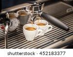 professional espresso machine... | Shutterstock . vector #452183377
