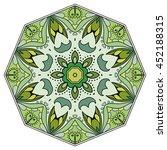 mandala flower decoration ... | Shutterstock .eps vector #452188315