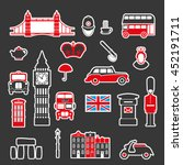 set of icons on the theme of... | Shutterstock .eps vector #452191711