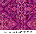beatiful seamless paisley... | Shutterstock . vector #452193919