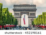 paris  france   july 14  2014 ... | Shutterstock . vector #452198161