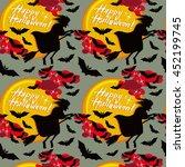 halloween seamless pattern with ...   Shutterstock .eps vector #452199745