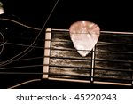 Acoustic Guitar Strings Close Up