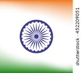 abstract india flag background. ... | Shutterstock .eps vector #452209051