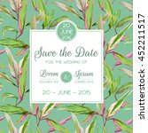 save the date  invitation ... | Shutterstock .eps vector #452211517