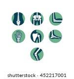 orthopaedics and sport medicine ... | Shutterstock .eps vector #452217001