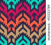 seamless vector tribal pattern... | Shutterstock .eps vector #452221789