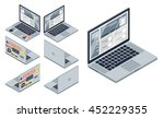 isometric vector set of... | Shutterstock .eps vector #452229355
