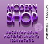 set of glossy alphabet letters  ...   Shutterstock .eps vector #452229691
