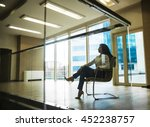 silhouette of serious business... | Shutterstock . vector #452238757
