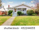 beige siding house exterior... | Shutterstock . vector #452244055