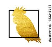 vector golden rooster isolated... | Shutterstock .eps vector #452245195