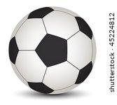 vector soccer ball | Shutterstock .eps vector #45224812