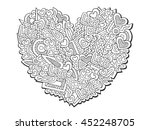 doodles love ornament. saint... | Shutterstock .eps vector #452248705