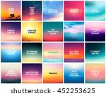 big set of 20 square blurred... | Shutterstock .eps vector #452253625