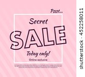 secret sale offer poster banner ... | Shutterstock .eps vector #452258011