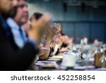 abstract blur business meeting  ... | Shutterstock . vector #452258854