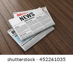 morning newspapers on wooden... | Shutterstock . vector #452261035