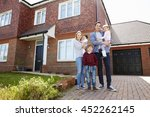 portrait of young family... | Shutterstock . vector #452262145