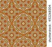 seamless oriental ornamental... | Shutterstock .eps vector #452268304