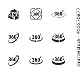 angle 360 degrees sign icons | Shutterstock .eps vector #452270677