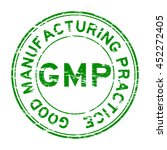 grunge gmp  good manufacturing... | Shutterstock .eps vector #452272405