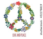 peace symbol with colorful... | Shutterstock .eps vector #452278819