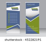 roll up banner stand template.... | Shutterstock .eps vector #452282191