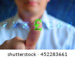 currency sign. concept... | Shutterstock . vector #452283661