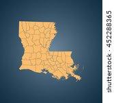 map of louisiana | Shutterstock .eps vector #452288365
