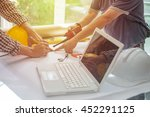 young architects working on a... | Shutterstock . vector #452291125
