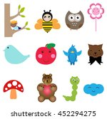 set with different icons for... | Shutterstock .eps vector #452294275