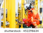 operator recording operation of ... | Shutterstock . vector #452298634