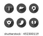 white long shadow human... | Shutterstock .eps vector #452300119