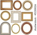 picture frames with a... | Shutterstock . vector #45230026