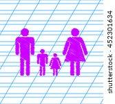 family icon set vector. violet... | Shutterstock .eps vector #452301634