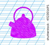 vector kettle icon. violet...