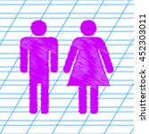 man and woman sign illustration....   Shutterstock .eps vector #452303011