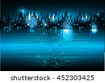 blue abstract cyber light hi... | Shutterstock .eps vector #452303425