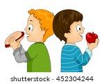 Illustration Of Little Boys...