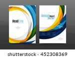 colorful swirl design annual... | Shutterstock .eps vector #452308369